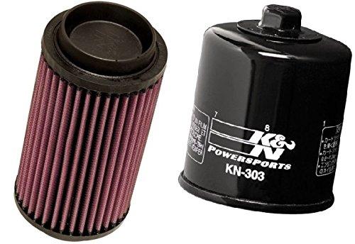 K&N Motorcycle Air Filter + Oil Filter Combo 2000 Polaris Magnum 325 2x4 PL-1003 + KN-303