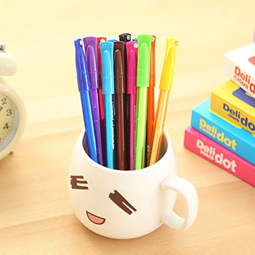 New Cute Colorful Gel Pen Set Novelty Kawaii Korean Stationery Creative