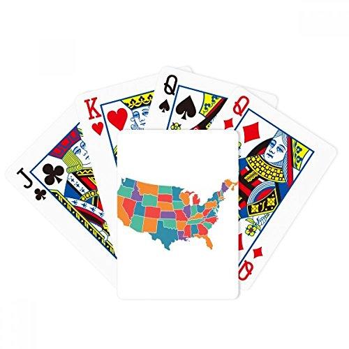 (DIYthinker America Map States Pattern Poker Playing Cards Tabletop Game Gift)