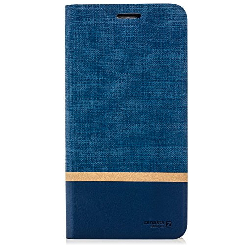 Funda Huawei P10 Lite Case [zanasta Designs] Cubierta Carcasa Flip Cover Tapa Delantera con Billetera para Tarjetas Protectora de Alta Calidad, Cierre Abatible Azul Azul