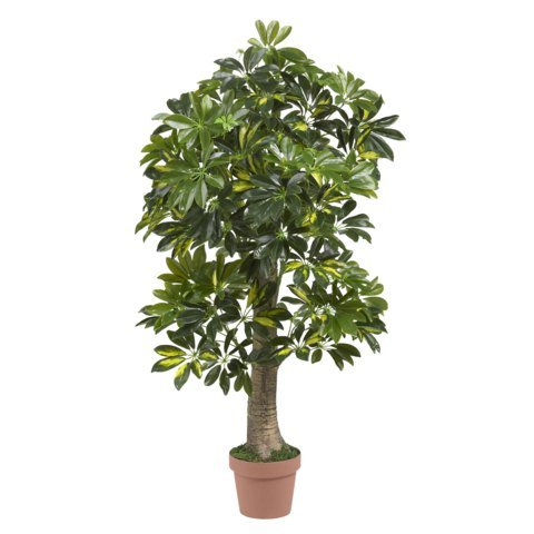 Wholesale 4 ft schefflera silk tree real touch decor for Real plants for home decor