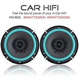 FidgetFidget Speakers 2PCS 6 inch 16CM CAR Door/Shelf COAXIAL 80W Stereo HiFi Speaker Horn