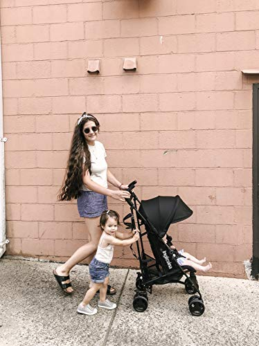 51O7FXYrTBL - Inglesina Net Stroller - Lightweight Summer Travel Stroller - UPF 50+ Protection Canopy With Removable And Washable Seat Pad {Black}