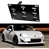 iJDMTOY JDM Style Front Bumper Tow Hole Adapter License Plate Mounting Bracket For 2013-up Scion FR-S Subaru BRZ and 2015-up Subaru WRX
