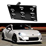 iJDMTOY JDM Style Front Bumper Tow Hole Adapter License Plate Mounting Bracket For 2013-2017 Scion FR-S, 2013-2018 Subaru BRZ, 2010-2015 Toyota Prius, 2017-up Toyota 86 and 2015-up Subaru WRX