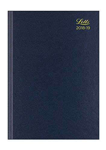 13 Standard Diary - Letts 19-TA1ZBL A4 Standard Academic 18-19 Day Per Page with Appointments 13 Month Diary - Blue