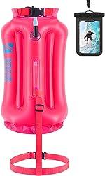 QOGIR Swim Buoy - Safety Float 28L with Adjustable Waist Belt