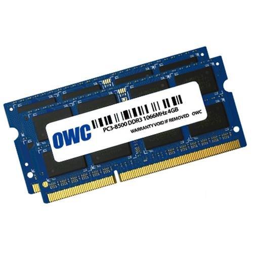7 opinioni per OWC OWC8566DDR3S8GP Memoria ( 2 x 4.0GB PC8500 DDR3 1066MHz 204 Pin )