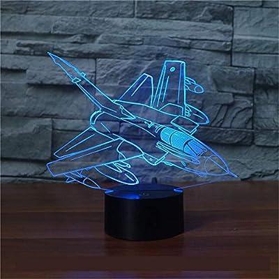 Nuevas aeronaves 3d Control remoto colorido 3d Lámparas de mesa ...