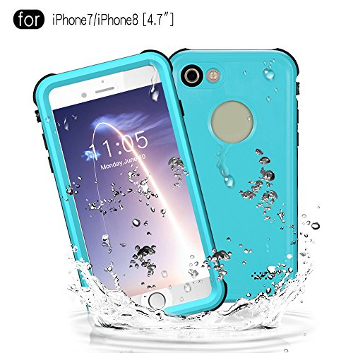 Waterproof Case for iPhone 7/iPhone 8 (4.7 Inch), Janazan Full Sealed Protective Cover Built-in Screen Protector IP68 Waterproof Case for Outdoor Sports, Shockproof, Snowproof, Dirtproof (Grass (Water Resistant Sport Case)