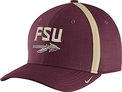Nike Men's Florida State Seminoles Garnet AeroBill Football Sideline Coaches Classic99 Hat (OneSize)