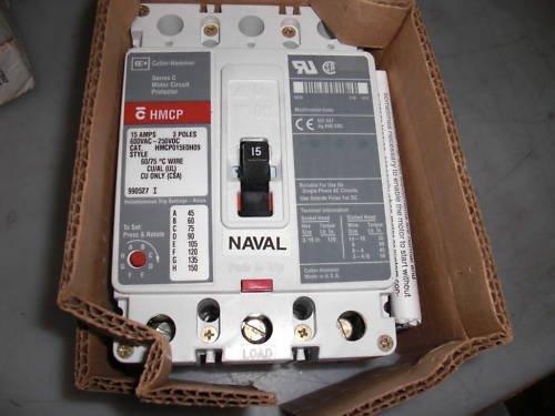 HMCP015E0H09 EATON CUTLER HAMMER 15 AMP, 600V, 3 POLE CIRCUIT BREAKER, HMCP015E0H 09, SERIES C, MOTOR CIRCUIT PROTECTOR, HMCP 15A 3P
