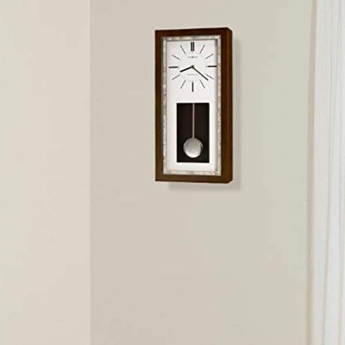 Howard Miller Holden Wall Clock 625-594 Espresso Finish with Quartz, Single-Chime Movement