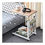 LIFTABLE LAPTOP DESK SOFA SIDE END TABLE FOR OFFICE COFFEE TABLE MAGAZINE SHELF SMALL TABLE BESIDE BED TEA TABLE MOVABLE (COLOR : ANCIENT OAK)