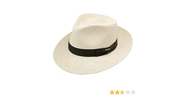 a13283c3b0afbc Amazon.com: Stetson Centerdent Panama Straw Hat: Clothing