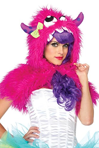 [Leg Avenue Costumes Mega Monster Furry Shrug, Pink, One Size] (Sexy Monster Halloween Costumes)
