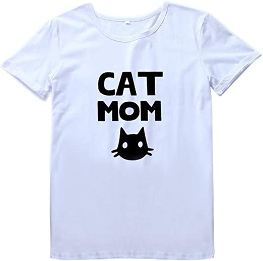 Rcool Camiseta Camisetas Tops y Blusas Camisetas Mujer Manga Corta Camisetas Deporte Mujer Camisetas Mujer, Camiseta Suelta de Manga Corta con Cuello Redondo O-Neck Top B: Amazon.es: Ropa y accesorios