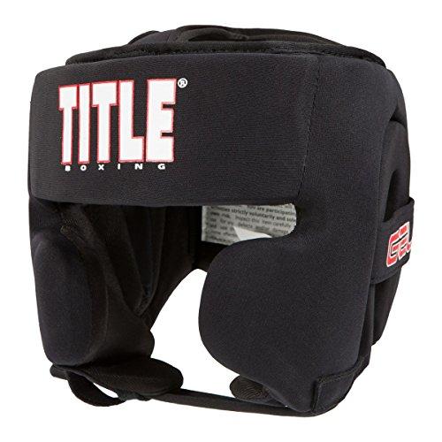 TITLE Gel Ultra-Lite Washable Headgear, Black, Youth