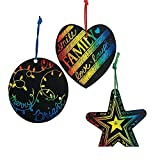 magic color scratch hearts - Bargain World Paper Magic Color Scratch Christmas Ornaments (With Sticky Notes)