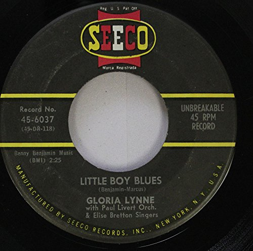Gloria Lynne 45 RPM Little Boy Blues / Way beyond the Hills