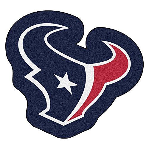 Houston Area Rug - NFL Houston Texans Mascot Novelty Logo Shaped Area Rug