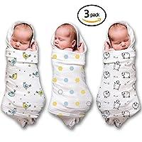 """Mantas Swaddle de muselina 100% algodón suave Muselina Paquete de 3 grandes 47 """"x47"""" Unisex regalo de ducha Baby Girl o Baby Boy"""