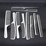 Chinatera 10Pcs Professional Stainless Steel Salon Hair Cutting Combs Stylist Hairdresser Barbers Comb Set Anti-Static