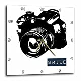 Cheap 3dRose dpp_152056_1 Smile Camera Photographer Art Wall Clock, 10 by 10-Inch