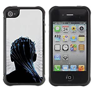 "Hypernova Defender Series TPU protection Cas Case Coque pour Apple iPhone 4 / iPhone 4S [Transendece""]"