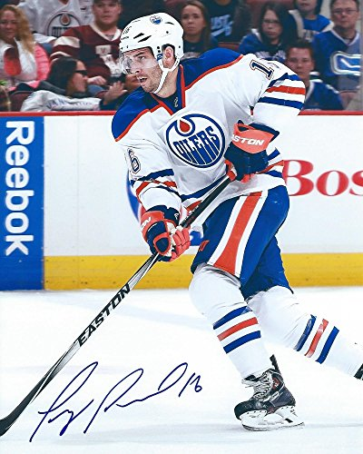 Teddy Purcell Hand Signed / Autographed Edmonton Oilers 8 x 10 Photo