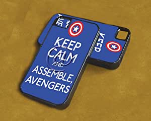 iPhone 4/4s Case Keep Calm and Assemble Avengers (Dual Layer - Black)