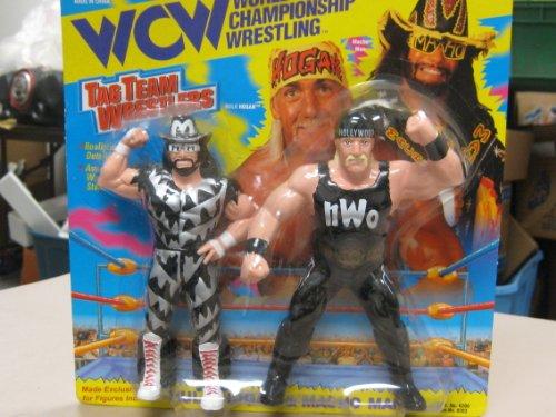 WCW World Wrestling Championship Tag Team Wrestlers Hulk Hogan & Macho Man By Original Toymakers