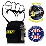 Millx Hardware Magnetic Wristband and Belt Clip with Strong Magnets for Holding Screws, Nails, Bits, Bolts, Nuts | Tool Birthday Gifts for Men, DIY Handyman, Father, Dad, Husband, Boyfriend, Guy, Him