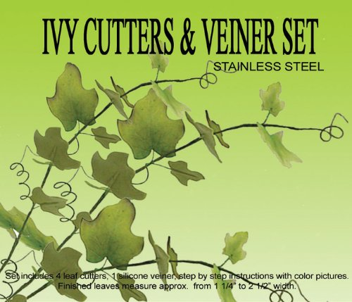 Ivy Leaf Gumpaste Cutters & Veiner Set