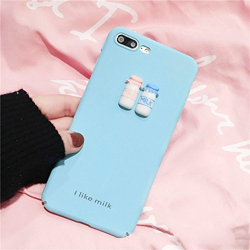 MXNET IPhone 7 Plus Fall, ich mag Kaffee-Wort-Muster-schützende rückseitige Abdeckungs-Fall CASE FÜR IPHONE 7 PLUS ( Color : Blue )