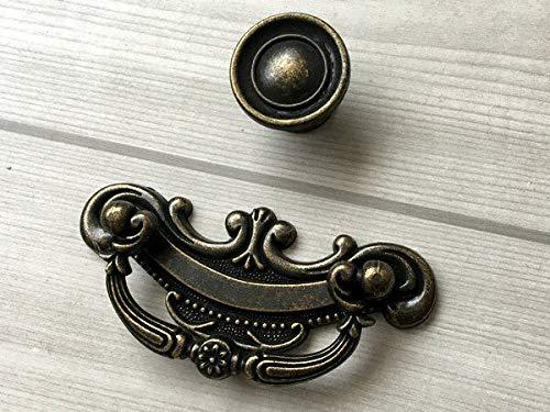 Cabinet Pull Knob Antique, (Set of 1) - 2.5
