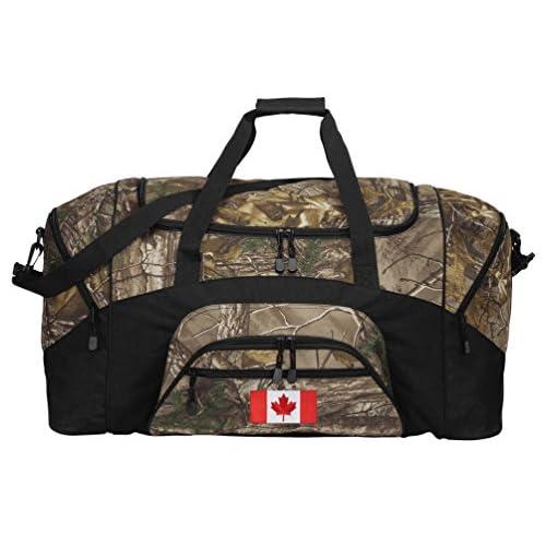 RealTree Camo Canada Flag Duffel Bag Or Camo Canada Gym Bag