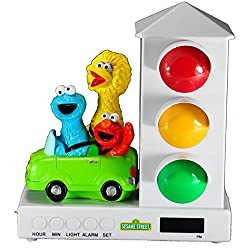 It's About Time Stoplight Sleep Enhancing Alarm Clock for Kids, Elmo & Friends