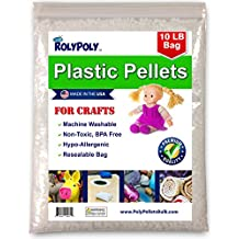 Plastic Pellets in Resealable Bag (10 LBS) for Weighted Blankets, Dolls/Toys, Lap Pads, Cornhole Bags, Bean Bags, I-Spy Bags, Rock Tumbler, Rifle Bags, Non Toxic, Machine Washable Craft Pellets