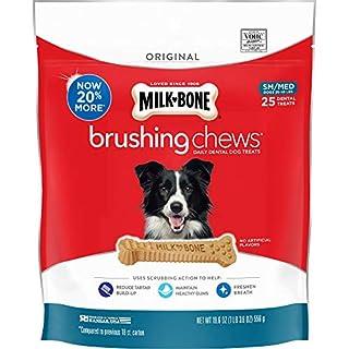 Milk-Bone Brushing Chews Daily Dental Dog Treats, Original, Small/Medium Treats, 19.6 Ounces