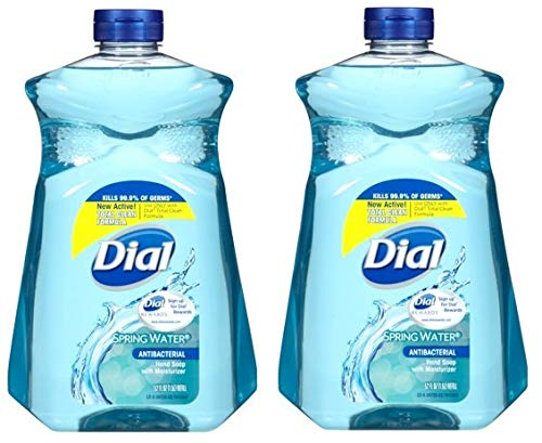 Liquid Dial Moisturizer (Dial Antibacterial Liquid Hand Soap with Moisturizer Refill, Spring Water, 52 Ounce (Pack of 2))