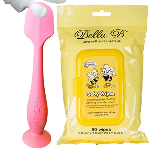 Bundle - BabyBum Diaper Cream Brush and Bella B Baby Wipes - Pink by Baby Bum + Bella B
