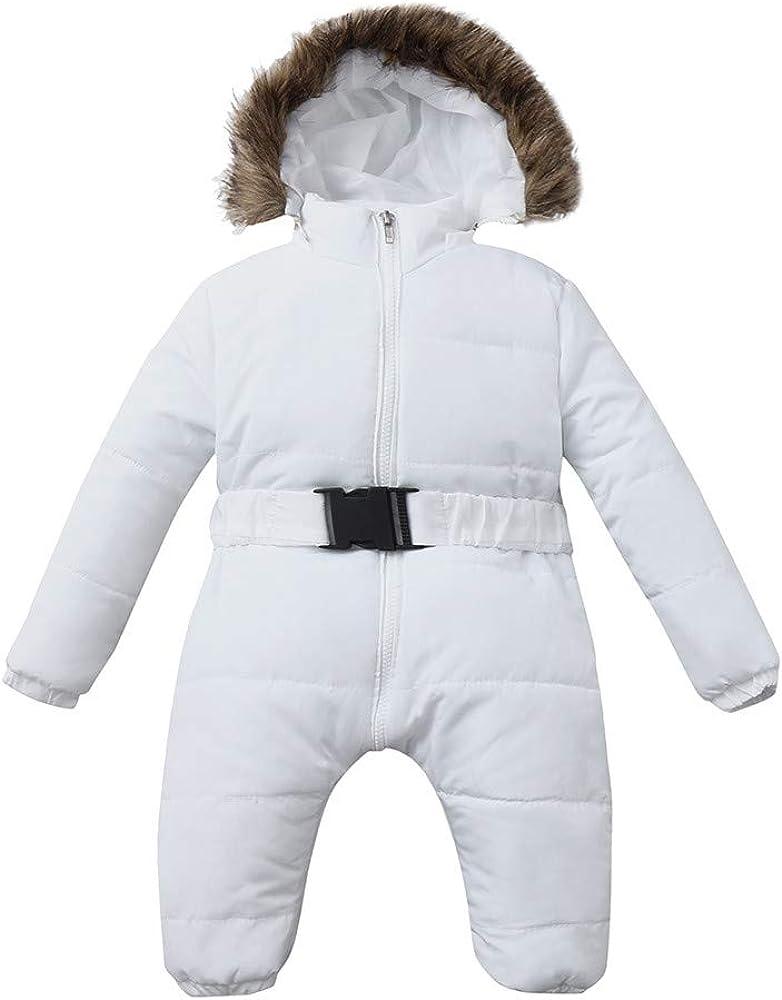 Newborn Baby Girls Boys Snowsuit Hooded Romper Winter Warm Footies Jumpsuit Down Jacket Overcoat Clothing/·