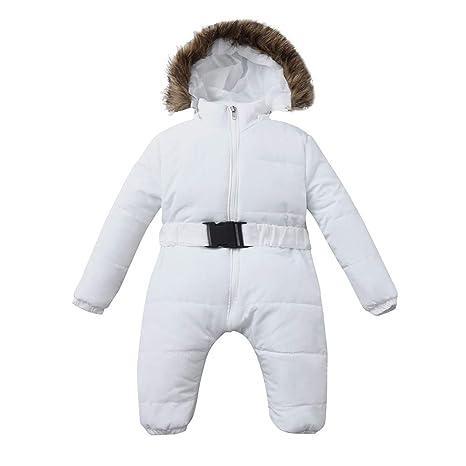 Bebes Recien Nacidos,Abrigos Bebe Niña,Invierno Infantil Bebé Niña Chica Mameluco Chaqueta Con