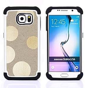 """Pulsar ( Libro Beige ilumina Sutil"""" ) Samsung Galaxy S6 / SM-G920 SM-G920 híbrida Heavy Duty Impact pesado deber de protección a los choques caso Carcasa de parachoques [Ne"""