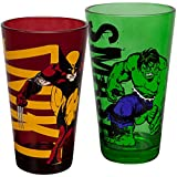 Marvel Wolverine & Hulk 2-Pack Pint Glass Set