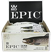 Epic All Natural Meat Bar, 100% Wild Caught, Salmon & Smoked Maple, 1.3 ounce bar, 12 count