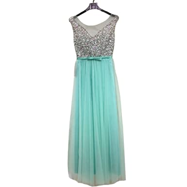 ZYLLGF Sequins Beaded Prom Dresses Long Formal Evening Dresses with Bow Corset Back (US 2