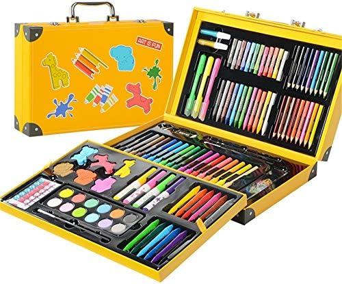 水彩毛筆 カラー筆ペン アートの絵画セット子供159の生徒カラーデザインペン子供スクール用品 画材 スケッチブックイラスト (色 : 黄)