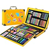 JIANGXIUQIN Artist Art Drawing Set, 159 Pieces of Art Supplies Painting Fun Children Super Surprise Gift, Joyful/Non-Toxic Gifts for Children and Children. (Color : Yellow)